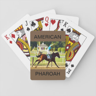American Pharoah on a Deck of Playing Cards