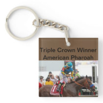 American Pharoah Triple Crown Winner Keychain