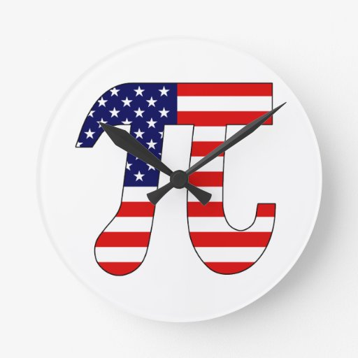 American Pi Round Wall Clocks
