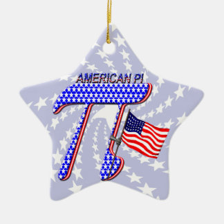 AMERICAN Pi Double-Sided Star Ceramic Christmas Ornament