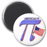 AMERICAN PI (PIE) - MATH HUMOR 2 INCH ROUND MAGNET