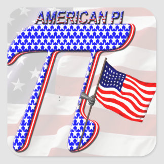 AMERICAN Pi Square Sticker