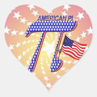 AMERICAN Pi Heart Stickers