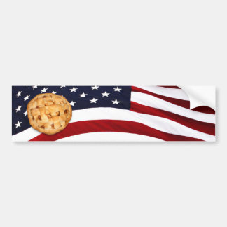 American Pie (Apple Pie with American Flag) Car Bumper Sticker