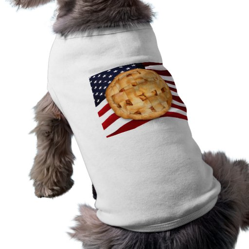 American Pie (Apple Pie with American Flag) Pet Shirt