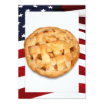 American Pie (Apple Pie with American Flag) Personalized Announcement