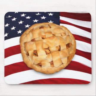 American Pie (Apple Pie with American Flag) Mouse Pads