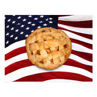 American Pie (Apple Pie with American Flag) Postcard