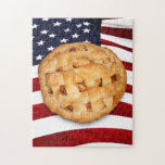 American Pie (Apple Pie with American Flag) Puzzle