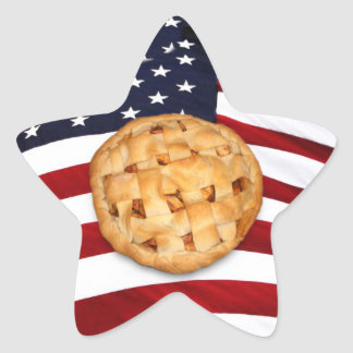 American Pie (Apple Pie with American Flag) Star Sticker