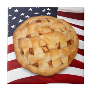 American Pie (Apple Pie with American Flag) Tiles