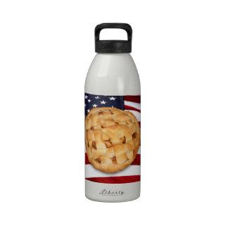 American Pie Apple Pie with American Flag Water Bottles