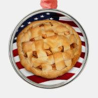 American Pie Metal Ornament