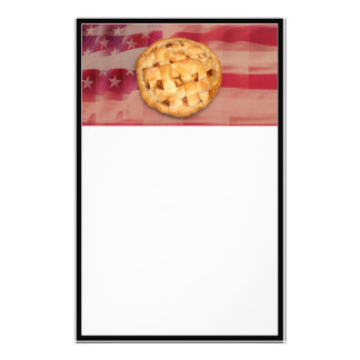 American Pie on Old Glory Stationery
