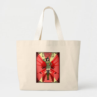 American Pinup Freedom Large Tote Bag