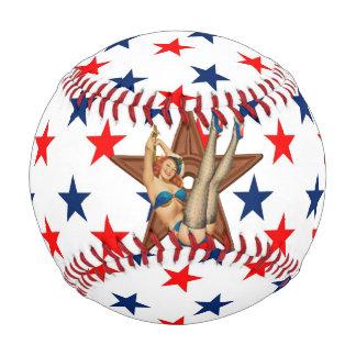 American pinup star baseball