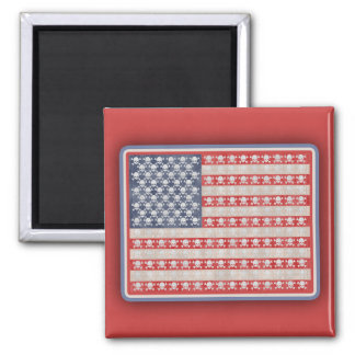 American Pirate Flag 2 Inch Square Magnet