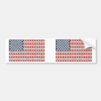 American Pirate Flag Bumper Sticker