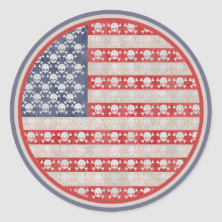 American Pirate Flag Classic Round Sticker