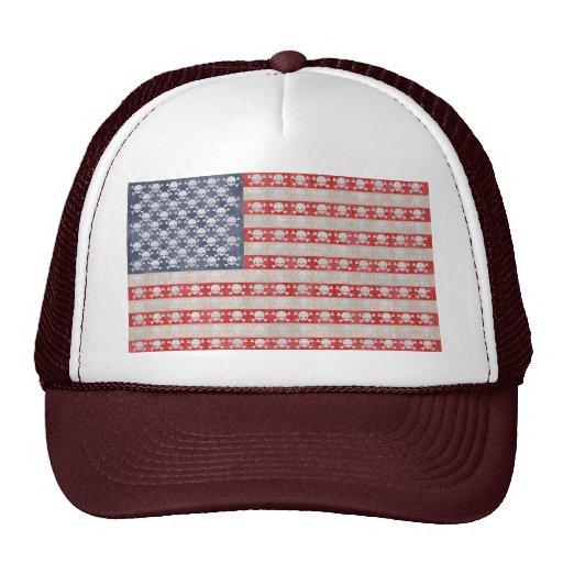 American Pirate Flag Trucker Hats