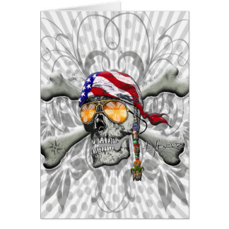 American Pirate Scull and Bones Cards