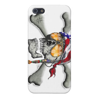 American Pirate Scull and Bones Case For iPhone SE/5/5s
