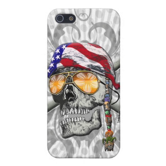 American Pirate Scull and Bones iPhone SE/5/5s Cover