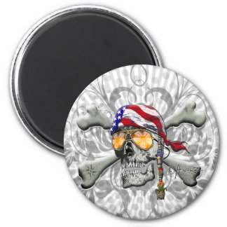 American Pirate Scull and Bones Fridge Magnets