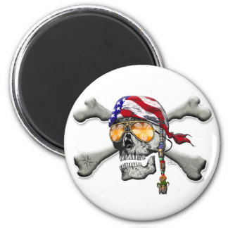 American Pirate Scull and Bones Magnets