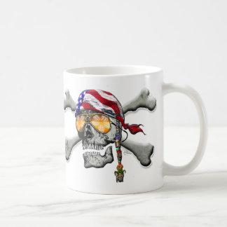 American Pirate Scull and Bones Coffee Mug
