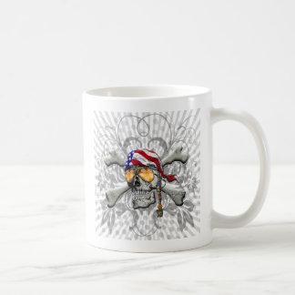 American Pirate Scull and Bones Mugs
