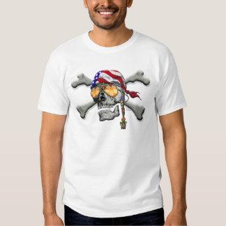 American Pirate Scull and Bones Shirt