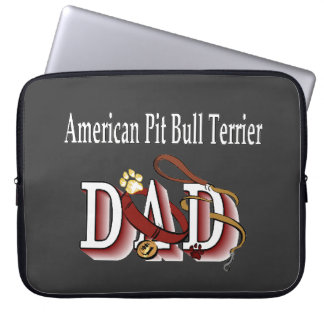american pit bull dad laptop sleeve