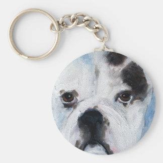 American pit bull puppy Keychain