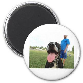 American Pit Bull Terrier- A Family Dog Fridge Magnet