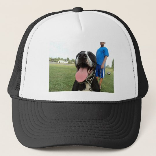 American Pit Bull Terrier- A Family Dog Trucker Hat