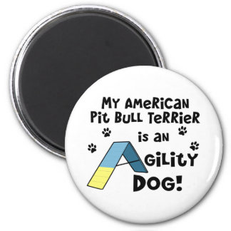 American Pit Bull Terrier Agility Dog Magnets