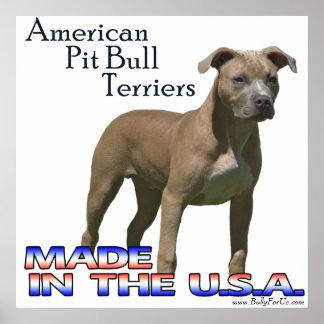 American Pit Bull Terrier (APBT) Poster