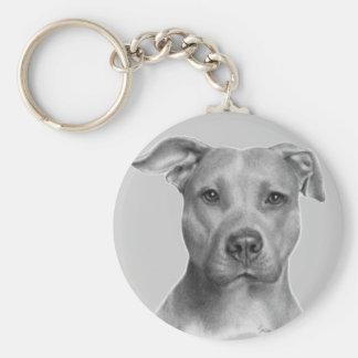 American Pit Bull Terrier Basic Round Button Keychain