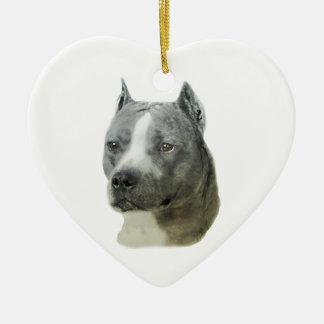American Pit Bull Terrier Ceramic Ornament