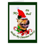 American Pit Bull Terrier Christmas Gifts Card
