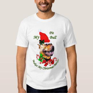 American Pit Bull Terrier Christmas Gifts Tshirt