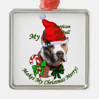 American Pit Bull Terrier Christmas Ornaments