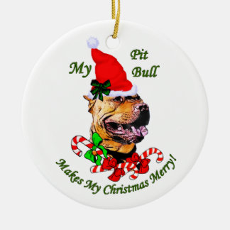 American Pit Bull Terrier Christmas Ornament