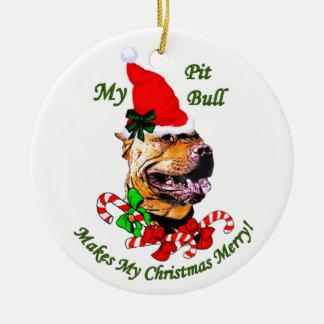 American Pit Bull Terrier Christmas Christmas Tree Ornaments