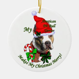 American Pit Bull Terrier Christmas Christmas Tree Ornament