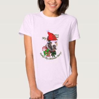 American Pit Bull Terrier Christmas T Shirt