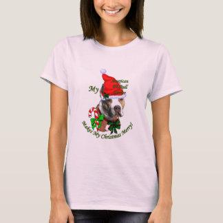 American Pit Bull Terrier Christmas T-Shirt