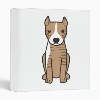 American Pit Bull Terrier (Cropped Ears) Vinyl Binders
