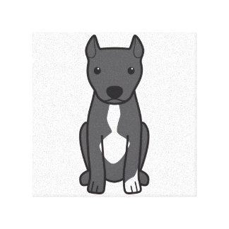 American Pit Bull Terrier (Cropped Ears) Gallery Wrap Canvas